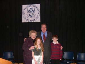 Mayor Pollard with Manzi Family
