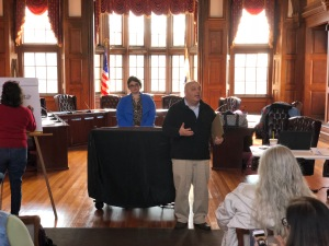 Northern Essex Register of Deeds Paul Iannuccillo speaks to Methuen Dems