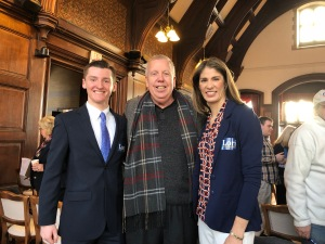 Methuen City Councilor Ryan Hamilton, Bill Manzi, and Lori Trahan