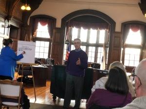 Former Mayor Zanni speaks to Methuen Dems